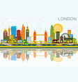 london skyline with color buildings blue sky and vector image vector image