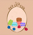 macaroons and berries vector image vector image