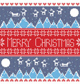 Merry xmas seamless nordic pattern with winter mo vector image vector image