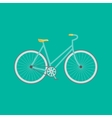 Modern flat of retro bicycle vector image vector image
