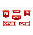 offer tag set discount stickers vector image vector image