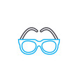 optical glasses thin line stroke icon vector image vector image