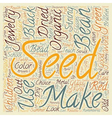Organic Seeds In Jewelry text background wordcloud vector image vector image