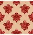 Ornate maroon damask style seamless pattern vector image vector image