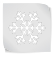 paper sticker with snowflacke vector image vector image