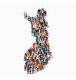 people map country Finland vector image