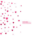 pink and red hearts vector image vector image