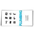 plumbing repair service business card vector image vector image