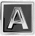 Polka Dot Font LETTER A vector image vector image