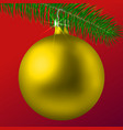 realistic golden matte christmas ball or bauble vector image vector image