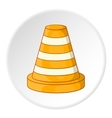 Road repair sign icon cartoon style vector image vector image