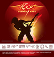 rock festival promotional poster vector image vector image