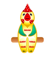 rooster toy vector image vector image