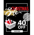 sale on christmas holiday leaflet discounts info vector image vector image