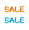 sale origami style sign vector image