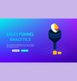 sales funnel analytics banner vector image vector image