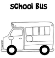 School bus with hand draw vector image vector image
