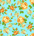 Seamless floral pattern with yellow roses vector image vector image