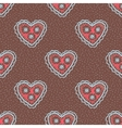 Seamless pattern with hearts Openwork heart vector image vector image