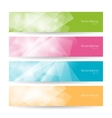 Set colorful polygonal banners vector image vector image