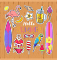 set of fashion summer stickers 2 vector image vector image