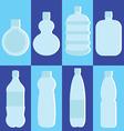 set water bottle vector image