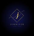 simple elegance initial letter j logo type sign vector image
