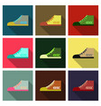 sneakers sneakers in flat style sneakers top view vector image vector image