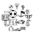 soccer football icons set simple style vector image vector image
