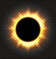 total solar eclipse icon on transparent vector image vector image