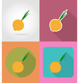 vegetables flat icons 06 vector image vector image