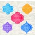 Vintage labels set colorful frames design elements vector image vector image