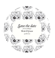Wedding invitation cards with grey flowers vector image vector image