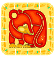 year rat chinese horoscope animal sign vector image vector image
