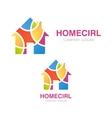 House logo design Creative real estate symbol or vector image