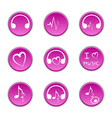 music theme icons vector image