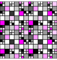 Design seamless colorful mosaic tetragon pattern vector image