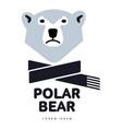 polar bear logo vector image