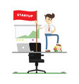 startup business project icon with businessman vector image