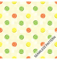 seamless pattern with oranges limes and juicy vector image