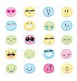 16 high quality cartoonish emoticons vector image