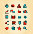 20 Internet Communication Icons vector image vector image