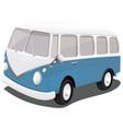 a blue vintage van vector image