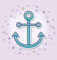 anchor icon with colorful vector image
