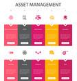 asset management infographic 10 option ui design vector image vector image