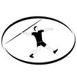 Athletics Javelin throwing vector image vector image