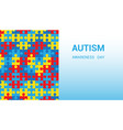 autism awareness day puzzle pieces blue background