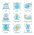 Banking Linear Concept vector image vector image