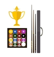Billiards game equipment vector image vector image