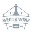 bottle wine logo simple gray style vector image vector image